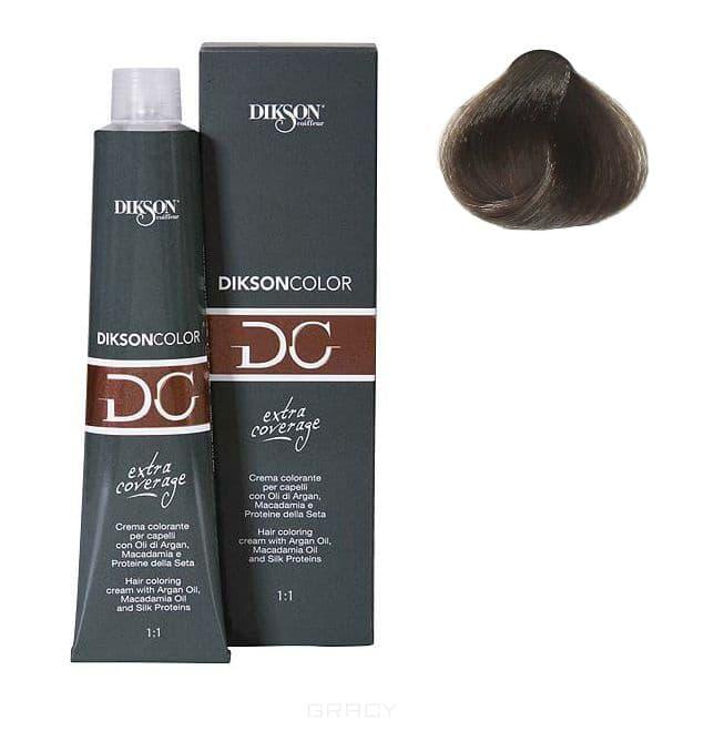 Dikson, Стойкая парфюмированная крем-краска для волос Extra Coverage, 120 мл (8 оттенков) 122-07 7.11 Dikson color extra coverage 7C/E блондин пепельный