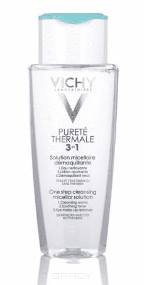 Vichy Мицеллярный лосьон для снятия макияжа с лица и глаз Purete Thermal, 200 мл vichy 50ml 55
