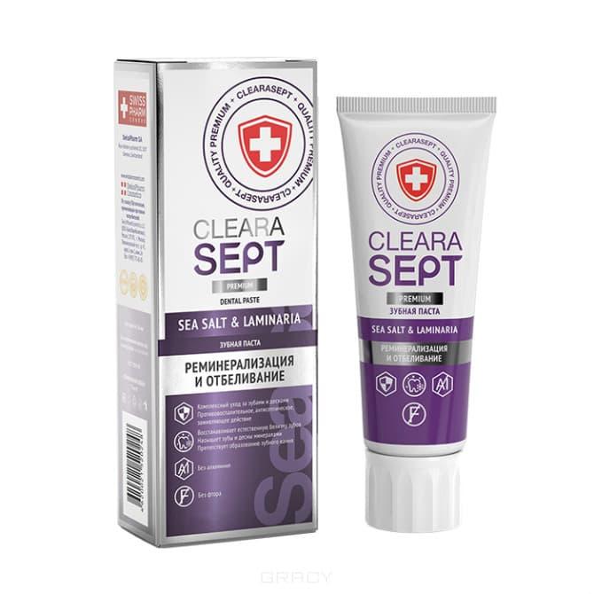 ClearaSept - Зубная паста Sea Salt & Laminaria Реминерализация и отбеливание, 75 мл