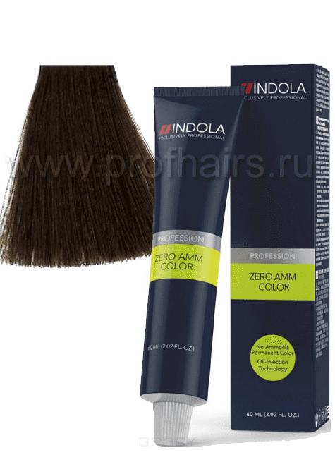 Indola, Zero Amm Стойкий краситель на масляной основе без аммиака, 60 мл (35 оттенков) 7-0 средний русый натуральный