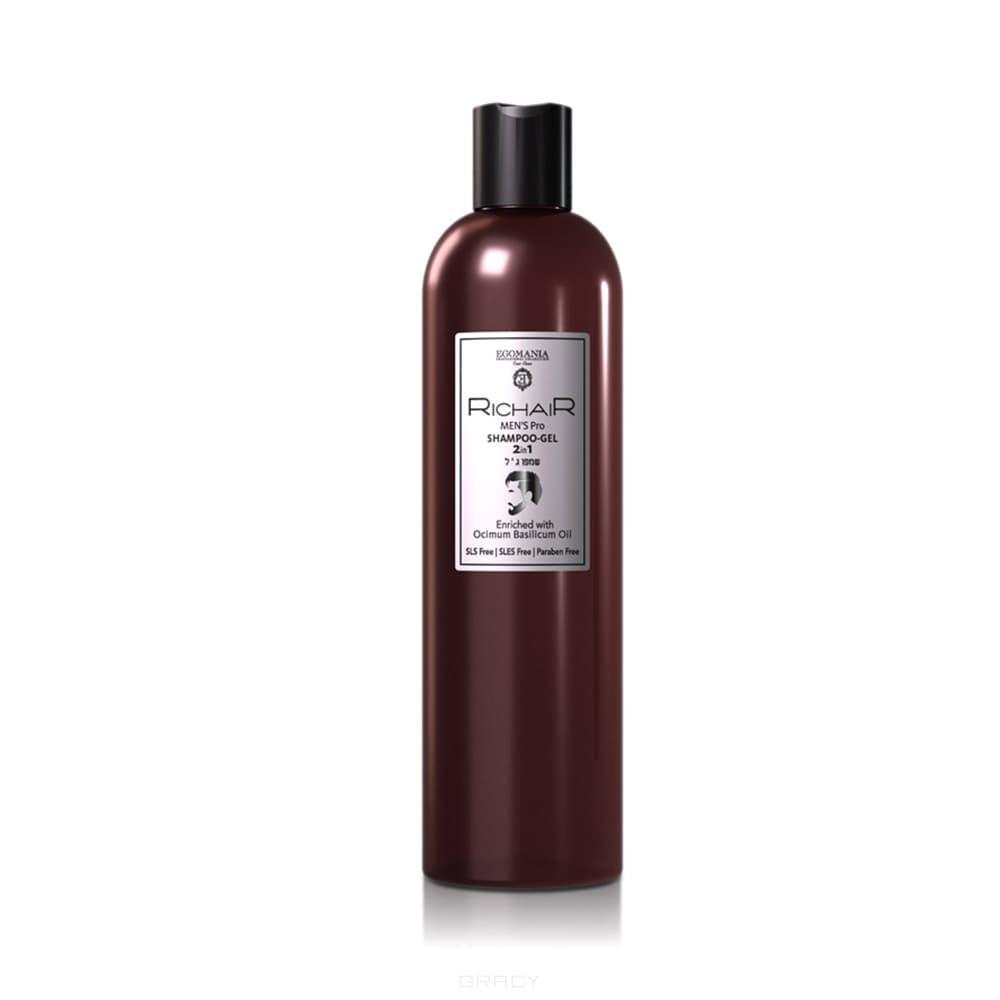 купить Egomania Шампунь-гель 2 в 1 мужской с маслом базилика RICHAIR SHAMPOO-GEL 2in1, 400 мл по цене 574 рублей