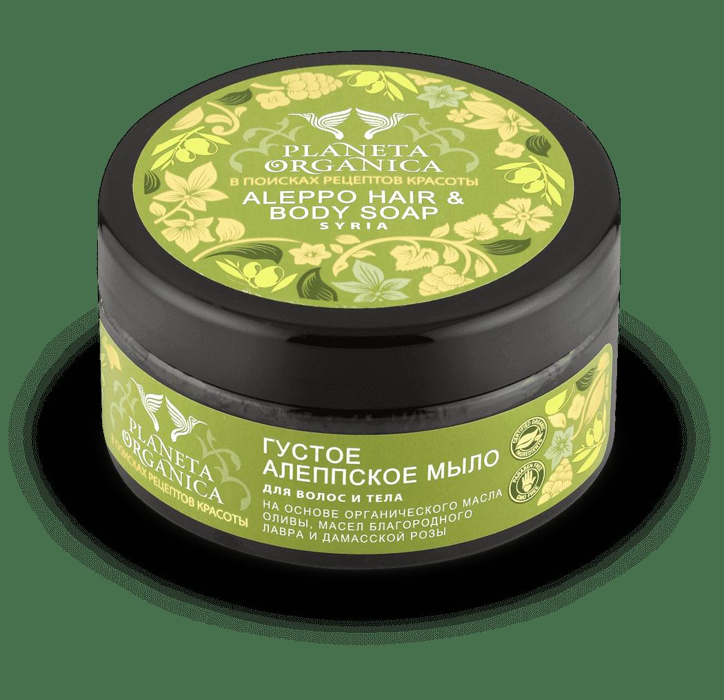 Planeta Organica Густое Алеппское мыло для волос и тела, 300 мл