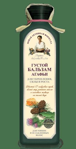 Рецепты бабушки Агафьи, Бальзам густой Агафьи Укрепление сила и рост волос, 350 мл