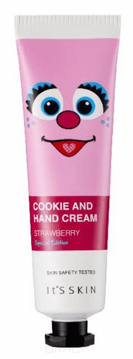 Купить It's Skin - Крем для рук Улица сезам , клубничное печенье Cookie and Hand Cream Special Edition 02 Strawberry, 30 мл