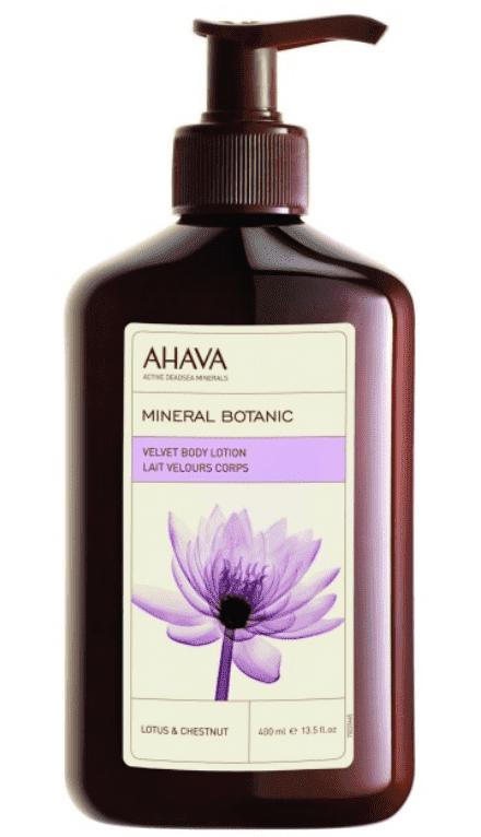 Ahava Бархатистый крем для тела лотос и каштан Mineral Botanic, 400 мл ahava крем масло для тела питательное лотос сладкий каштан 235 мл