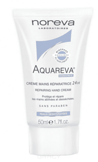 Noreva Восстанавливающий крем для рук Aquareva, 50 мл, Восстанавливающий крем для рук Aquareva, 50 мл, 50 мл интенсивный ночной увлажняющий уход aquareva 50 мл