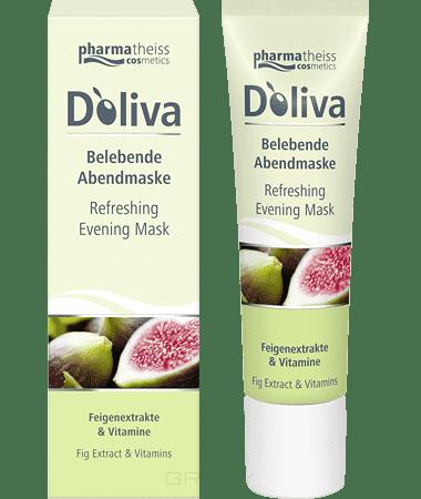 Doliva Вечерняя оживляющая маска для лица с маслом дерева Ши, экстрактом инжира, 30 мл