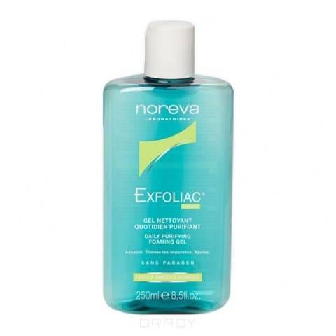 Noreva Мягкий очищающий гель для лица Exfoliac, 250 мл, Мягкий очищающий гель для лица Exfoliac, 250 мл, 250 мл очищающий гель для лица