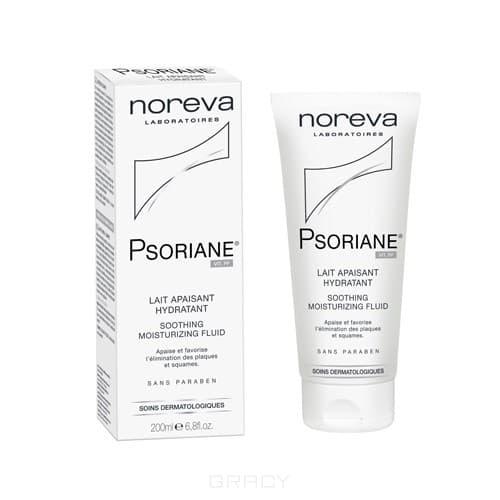 где купить Noreva Успокаивающее увлажняющее молочко Psoriane, 200 мл дешево
