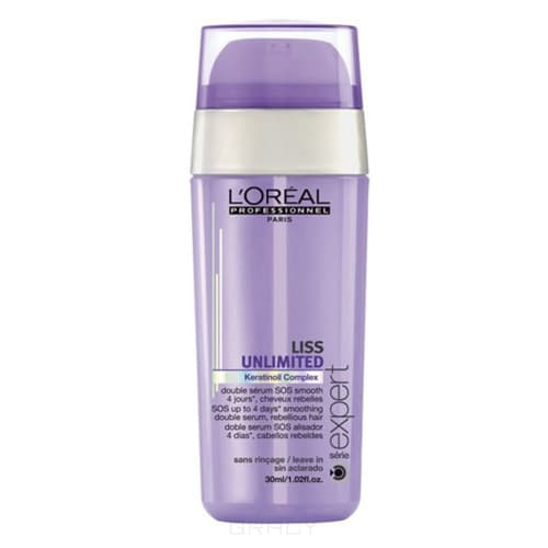 L'Oreal Professionnel SOS-сыворотка двойного действия Serie Expert Liss Unlimited SOS Smoothing Double Serum, 30 мл, SOS-сыворотка двойного действия Serie Expert Liss Unlimited SOS Smoothing Double Serum, 30 мл, 30 мл сыворотка coiffance professionnel liss line smoothing serum