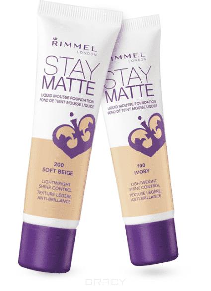 Rimmel Тональный крем Stay Matte, 30 мл (6 оттенков) , 100 Ivory, 1 шт rimmel тональный крем stay matte 100 30 мл