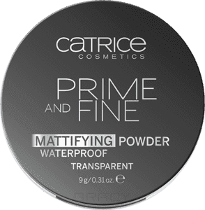 Catrice Пудра компактная, матирующая, влагостойкая Prime And Fine Mattifying Powder Waterproof, 9 г пудра catrice healthy look mattifying powder 010 цвет 010 luminous light variant hex name facab6