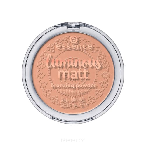 Essence Пудра компактная Luminous matt bronzing powder 01 бронзирующая пудра essence mattifying compact powder 04 цвет 04 perfect beige variant hex name facfbb