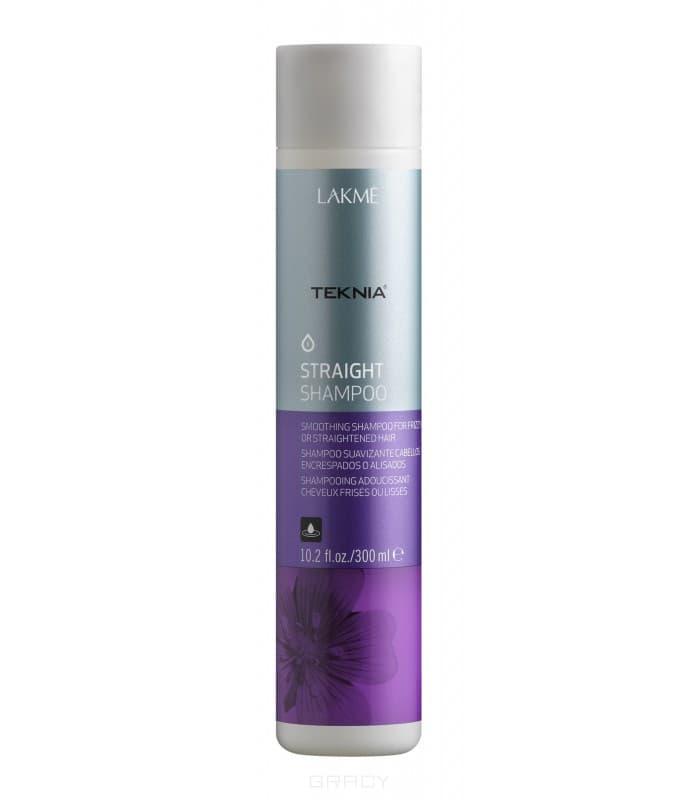 Lakme Шампунь для гладкости волос с нарушенной структурой или химически выпрямленных волос Teknia Straight shampoo, 300 мл, Шампунь для гладкости волос с нарушенной структурой или химически выпрямленных волос Teknia Straight shampoo, 300 мл, 300 мл lakme гель для придания гладкости непослушным или химически выпрямленным волосам gel 300 мл