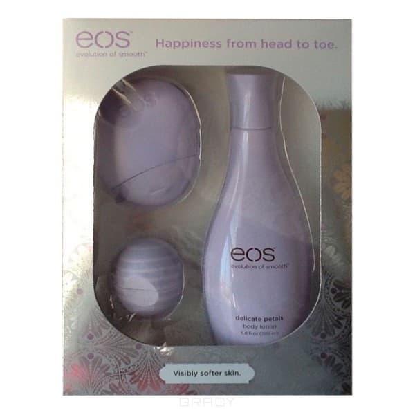 EOS, Набор с бальзамом для губ и лосьонами для рук и тела Фиолетовый