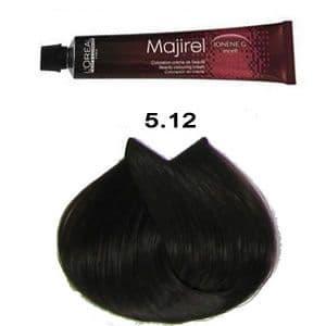 LOreal Professionnel, Крем-краска Мажирель Majirel, 50 мл (88 оттенков) 5.12 светлый шатен медно-ирисовый