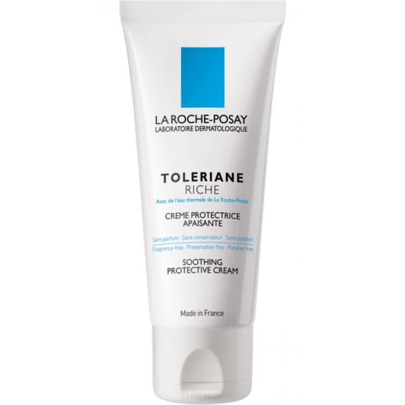 La Roche Posay Успокаивающий увлажняющий крем для сверхчувсвтительной сухой кожи Toleriane Riche, 40 мл крем la roche posay hydraphase intense riche объем 50 мл