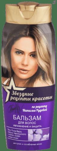 Звездные рецепты красоты Бальзам для волос Увлажнение и защита Н.Рудова, 400 мл масло kativa morocco argan oil nuspa масло