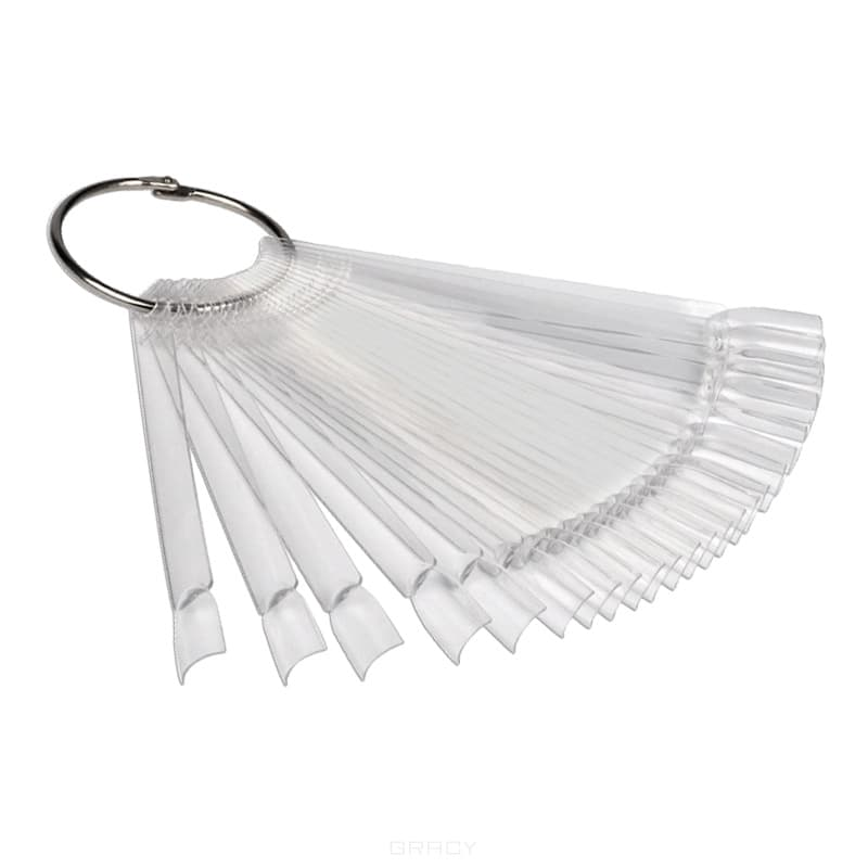 Planet Nails Палитра для лаков веер, прозрачная, 24 шт planet nails палитра для лаков веер 1 шт 24 шт