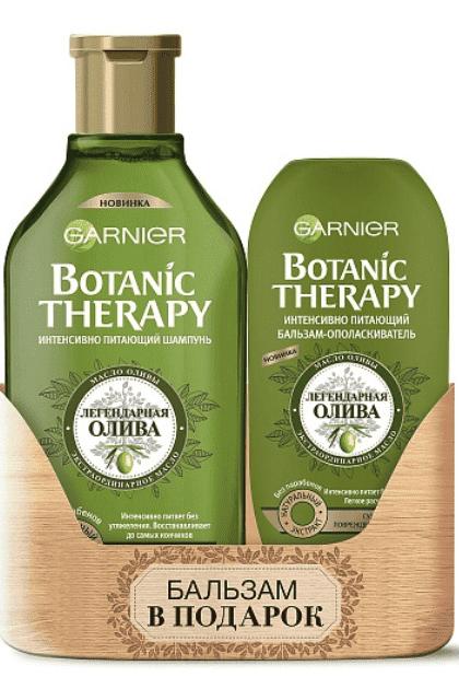 Garnier Набор Олива шампунь + бальзам BOM Botanic Therapy, 400 + 200 мл шампунь кря кря дыня 200 мл