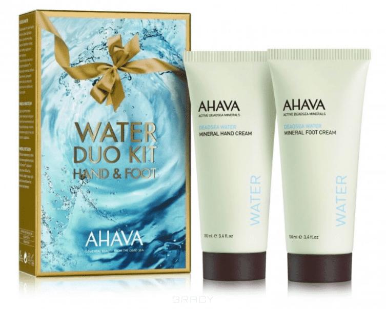 Ahava Набор Deadsea Water (Крем для рук минеральный + крем для ног минеральный), 100/100 мл ahava deadsea mud dermud nourishing body cream питательный крем для тела 200 мл