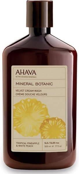Ahava Бархатистое жидкое крем-мыло Тропический ананас и белый персик Mineral Botanic, 500 мл