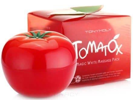 Tony Moly Осветляющая и выводящая токсины маска Tomatox Magic White Massage Pack, 80 мл маска tony moly make hd argan rose treatment hair steam pack 1 шт