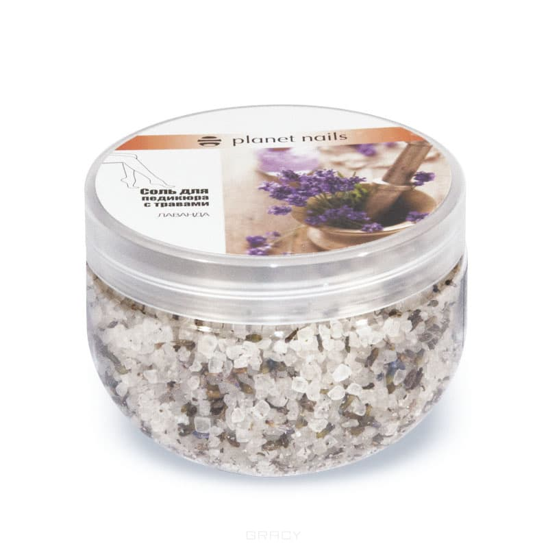 Planet Nails, Соль для педикюра с травами Лаванда, 350 г
