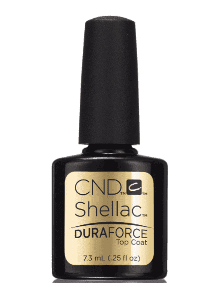 CND (Creative Nail Design) Верхнее покрытие Shellac Duraforce Top Coat, 7,3 мл cnd creative nail design базовое покрытие shellac uv base coat 7 3 мл