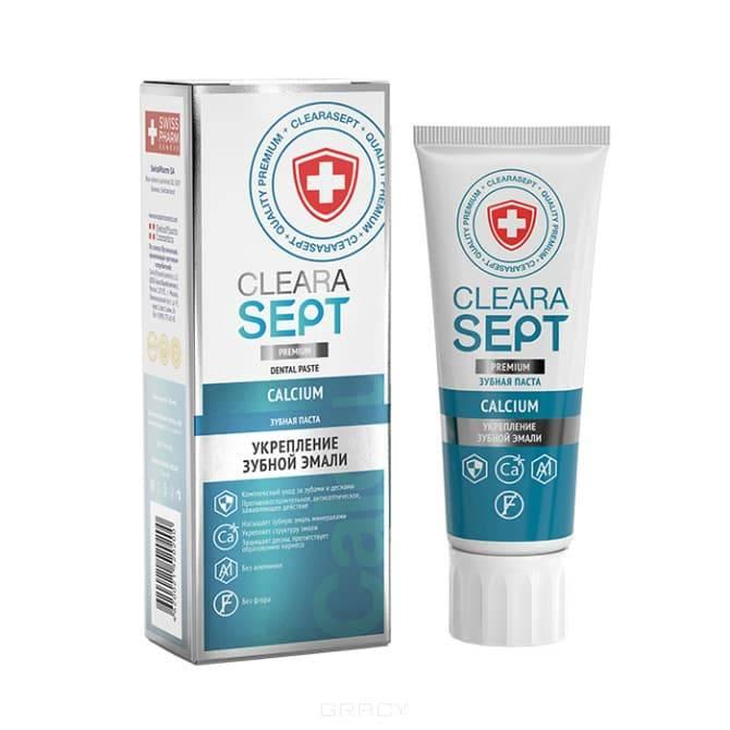 ClearaSept - Зубная паста Calcium Укрепление зубной эмали, 75 мл