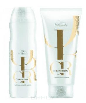 Wella Набор Oil Reflections (Шампунь и бальзам для блеска волоc 250мл + 200мл) wella oil reflections luminous smoothening oil разглаживающее масло для интенсивного блеска волос 30 мл