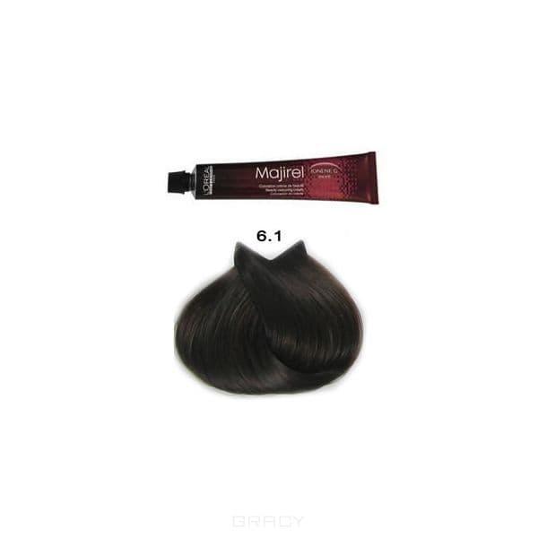 LOreal Professionnel, Крем-краска Мажирель Majirel, 50 мл (88 оттенков) 6.1 тёмный блондин пепельный