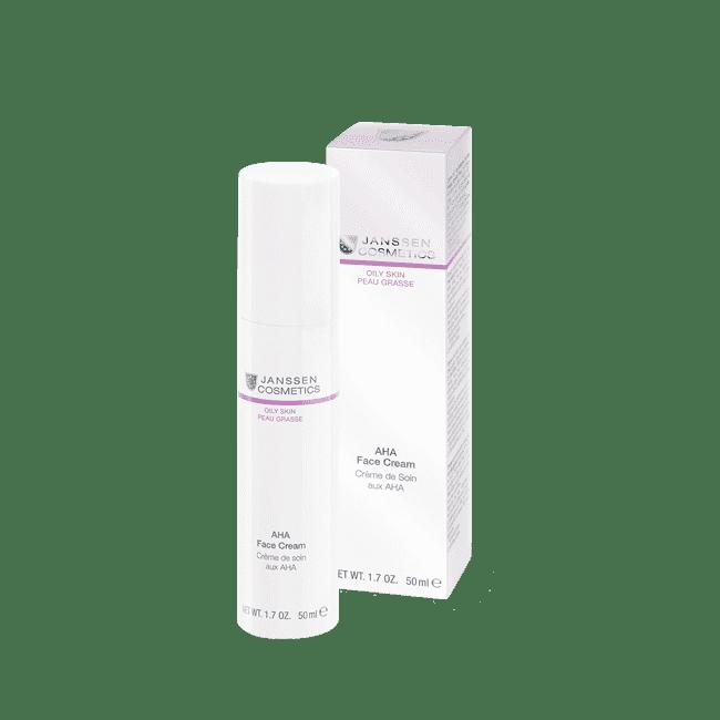 Janssen Лёгкий активный крем с фруктовыми кислотами AHA Face Cream Oily Skin, 150 мл