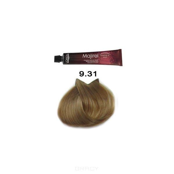 LOreal Professionnel, Крем-краска Мажирель Majirel, 50 мл (88 оттенков) 9.31 очень светлый золотисто-пепельный