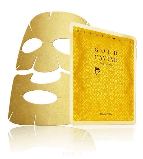 Holika Holika Антивозрастная тканевая маска Прайм Йос с золотом Prime Youth Gold Caviar Gold Foil Mask, 25 мл holika holika крем осветляющий для лица прайм йос вайт снэил prime youth white snail tone up cream 50 мл