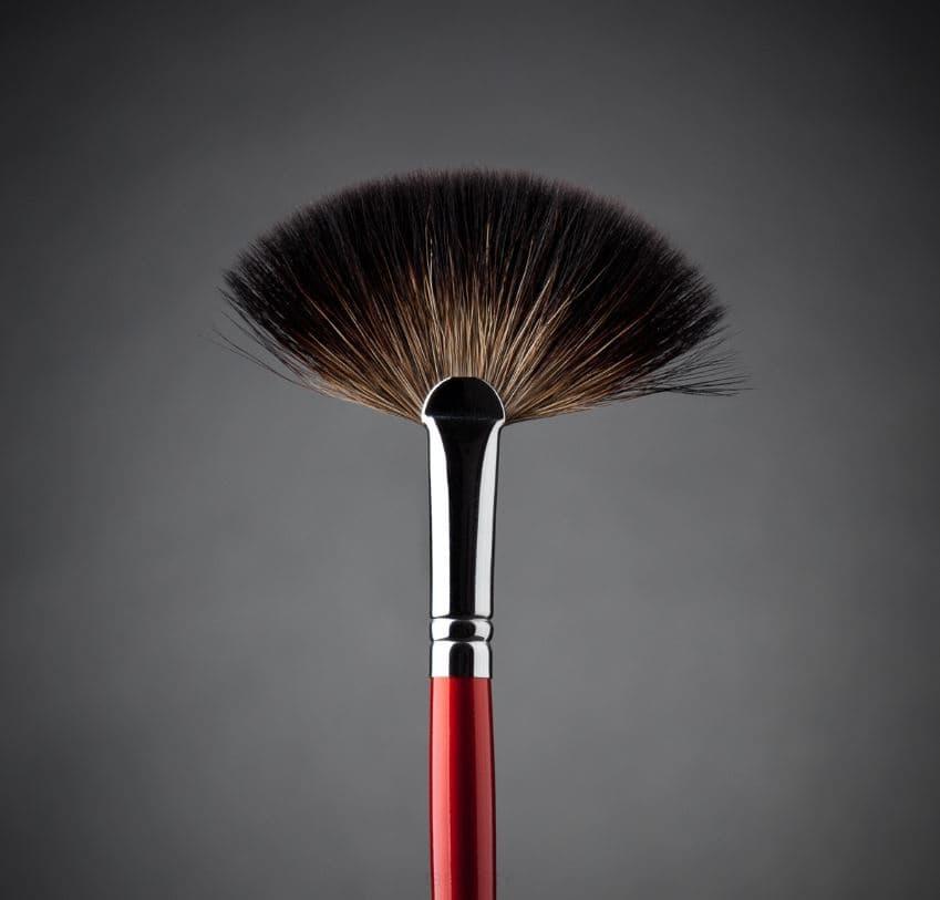 Ludovik Кисть веерная, енот, d 10, 41 valeri d кисть для румян из волоса енота со скосом 16м 9240