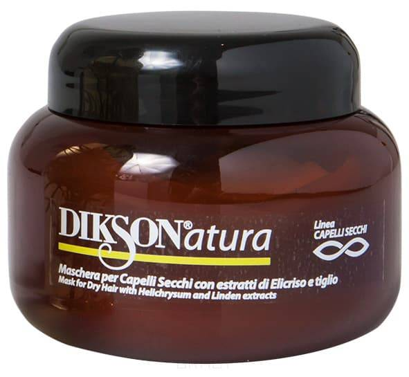 Dikson Маска с экстрактом бессмертника для сухих волос Natura Mask per capelli Secchi With Helichrysum, 250 мл fit 63319