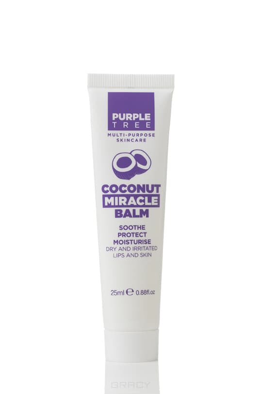Purple Tree, Бальзам для губ Кокос Miracle Balm Coconut, 25 мл