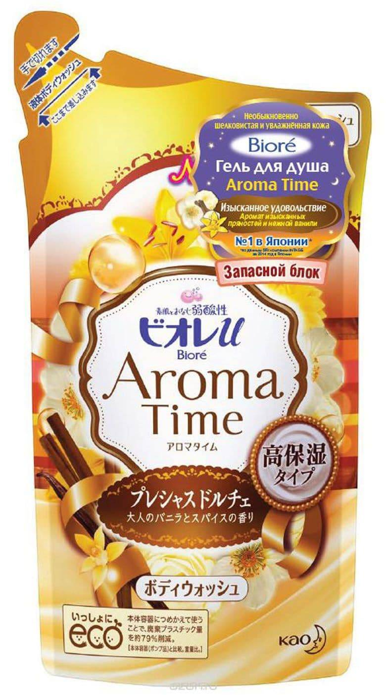 Biore Гель для душа Aroma Time Изысканное Удовольствие Запасной блок, 360 мл порошок для посудомоечной машины kao citric acid effect аромат грейпфрута 680 г