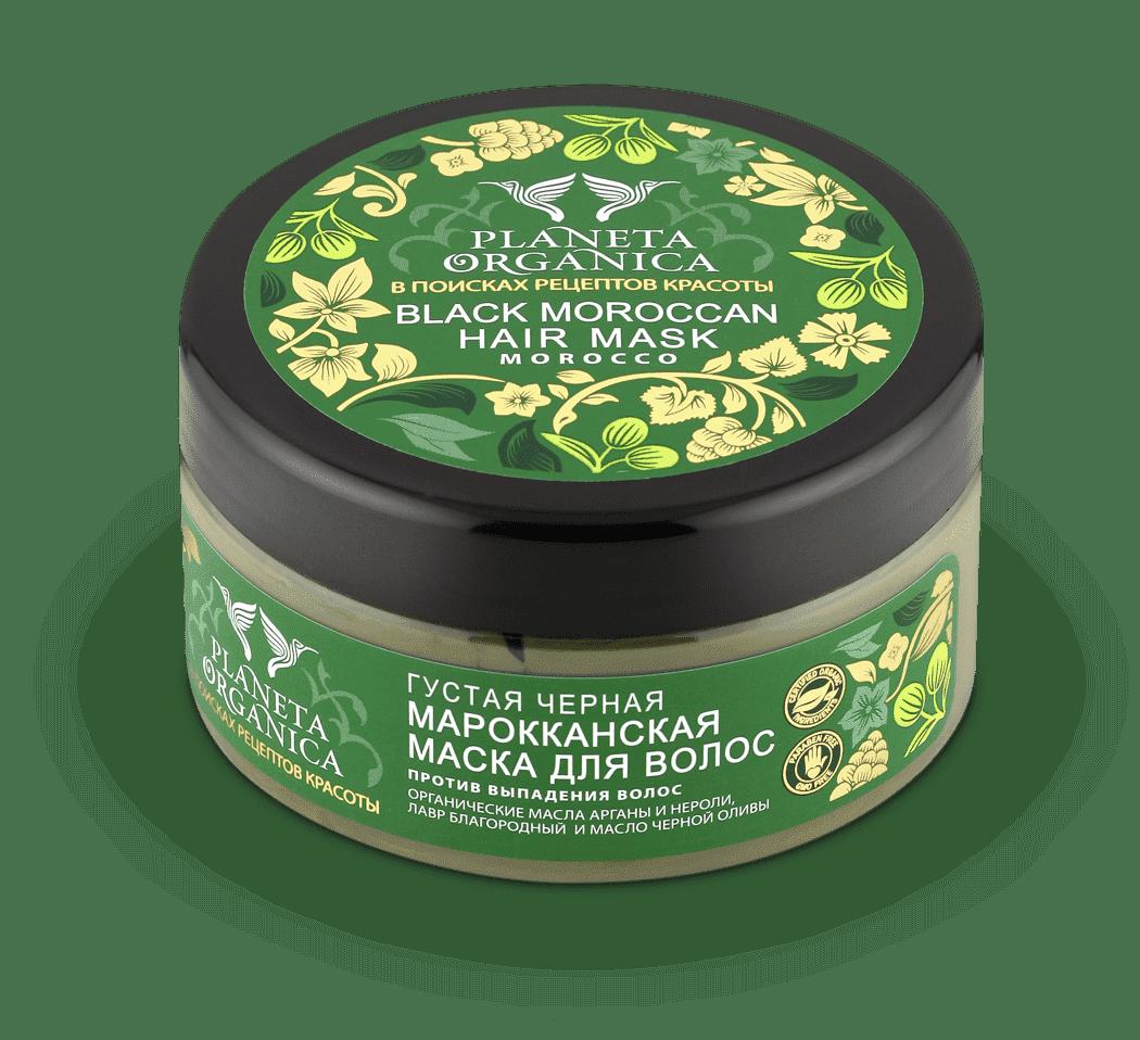 Planeta Organica, Маска для волос Густая, Черная марокканская, 300 мл