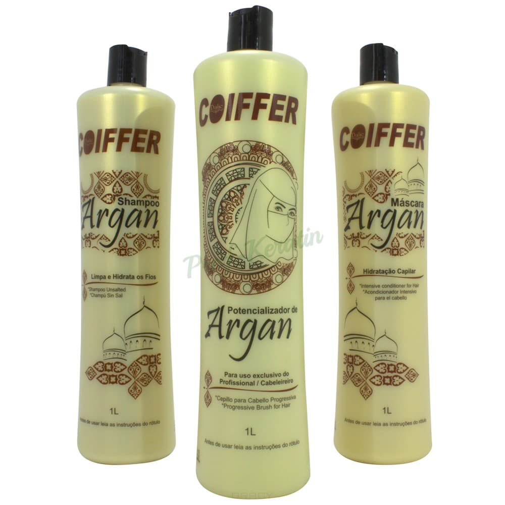 Coiffer Профессиональный набор для выпрямления и восстановления для смешанного типа волос Argan ogx argan oil аргановое масло для восстановления волос argan oil аргановое масло для восстановления волос