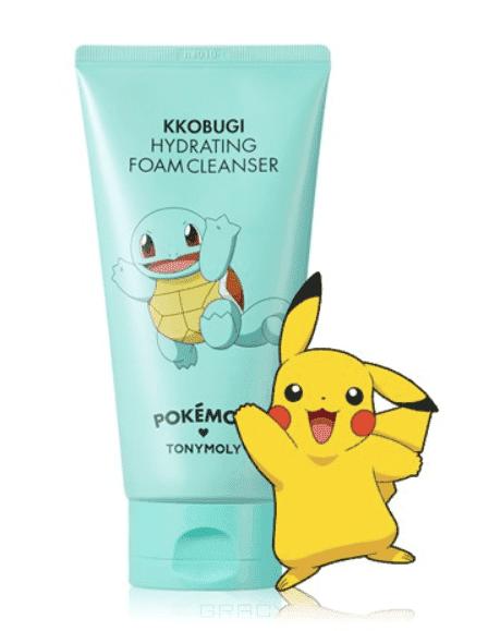 Tony Moly - Пенка для умывания увлажняющая с экстрактом лотоса Hydrating Foam Cleanser (Pokemon Edition) #Kkobugi