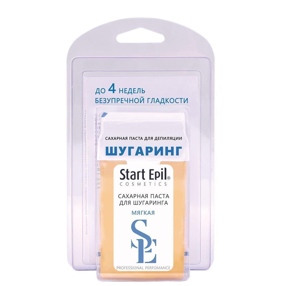 "Start Epil Набор : сахарная паста картридже ""Мягкая"" 100 г + полоски депиляции"