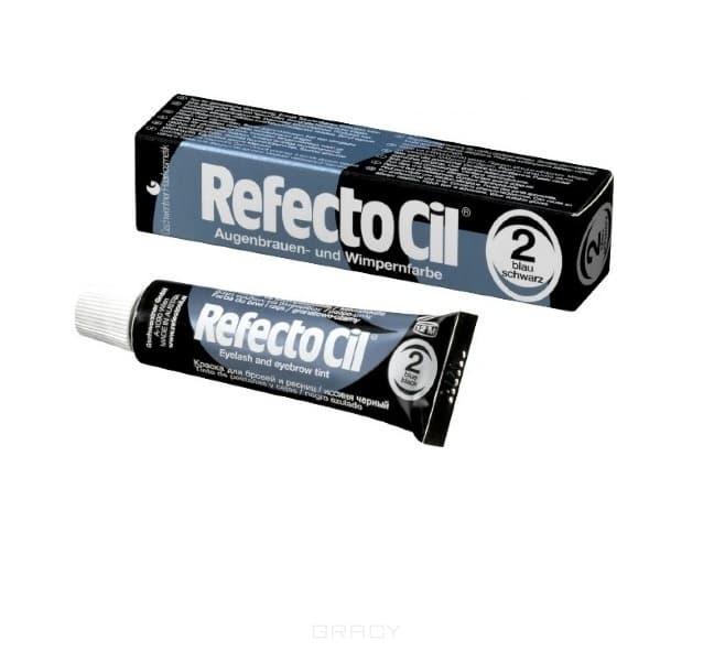 RefectoCil, Краска для бровей и ресниц, 15 мл (10 цветов) №2 Сине-черный