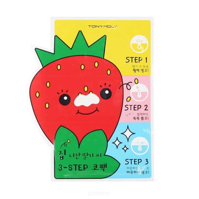 Купить Tony Moly - Очищающие патчи для носа Runaway Srawberry Seeds 3-step Nose Pack 3