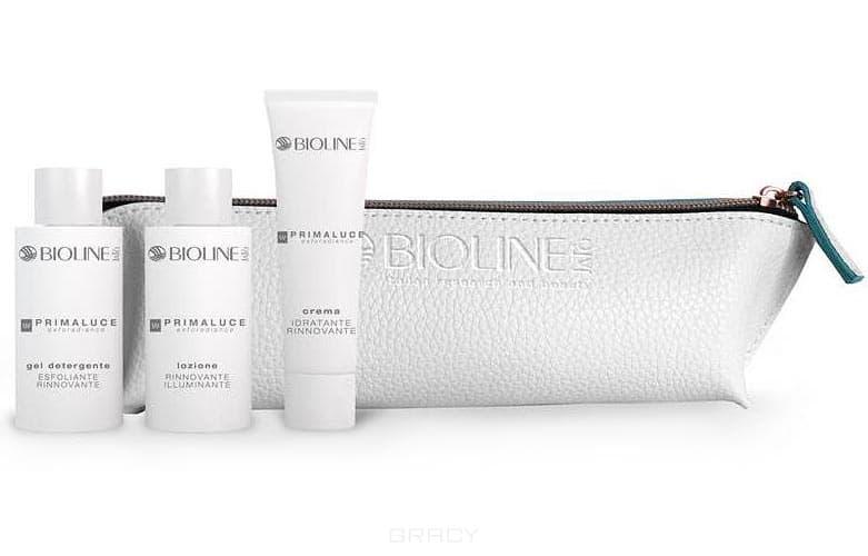 Bioline Подарочный набор Primaluce pensil-case для обновления кожи лица, шеи и декольте с AHA, 50/50/50 мл + пенал-косметичка крем herbolive для лица шеи и зоны декольте 50 мл