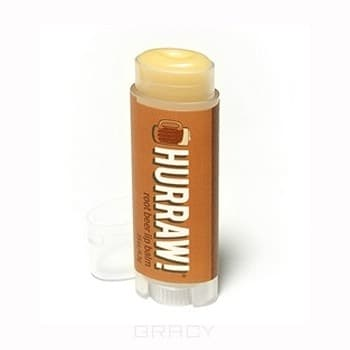 Hurraw Бальзам для губ Рутбир Root Beer Lip Balm, Бальзам для губ Рутбир Root Beer Lip Balm, 1 шт hurraw бальзам для губ grapefruit lip balm 4 3 г