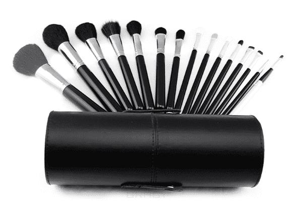 Sibel Набор кистей для макияжа, 15 шт, Набор кистей для макияжа, 15 шт, 1 набор набор кистей для макияжа спб недорого