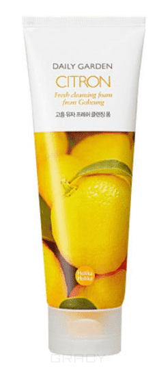 Holika Holika Пенка для лица с экстрактом цитруса Daily Garden Goheung Citron Fresh Cleansing Foam, 120 мл holika holika soda tok tok clean pore deep cleansing foam пенка глубоко очищающая для лица 150 мл