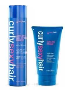 Sexy Hair Набор для волос Шампунь для кудрей без сульфатов и парабенов, 300 мл + Бальзам для фиксации кудрей, 150 мл